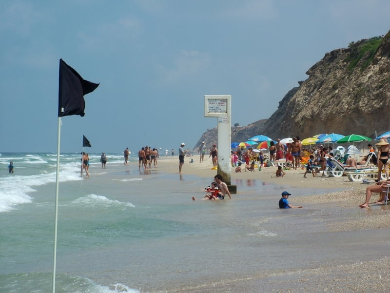 Praia de Hertzelyah na Sharon