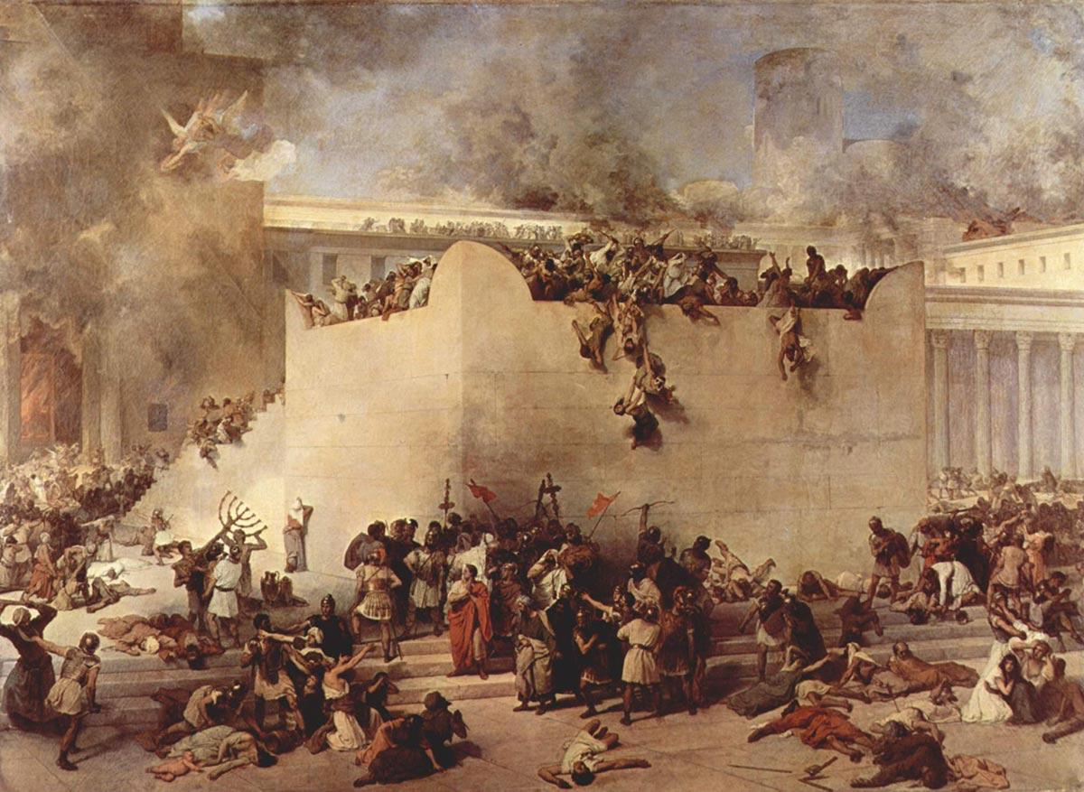 As Destruições do Templo de Jerusalém e ASSASSINATO EM MASSA DOS JUDEUS NO TMEPLO